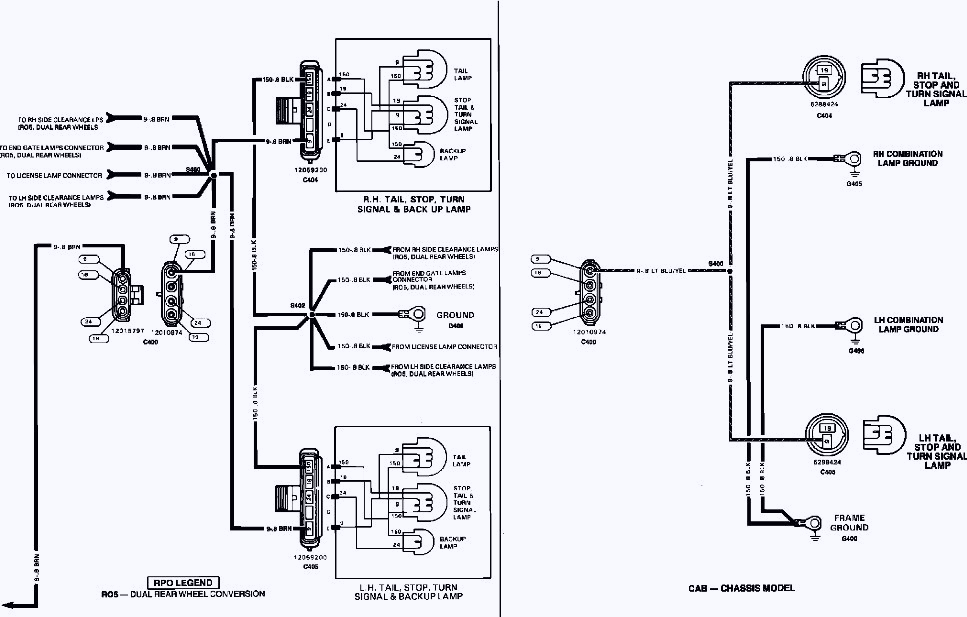 chevy express tail light wiring diagram database