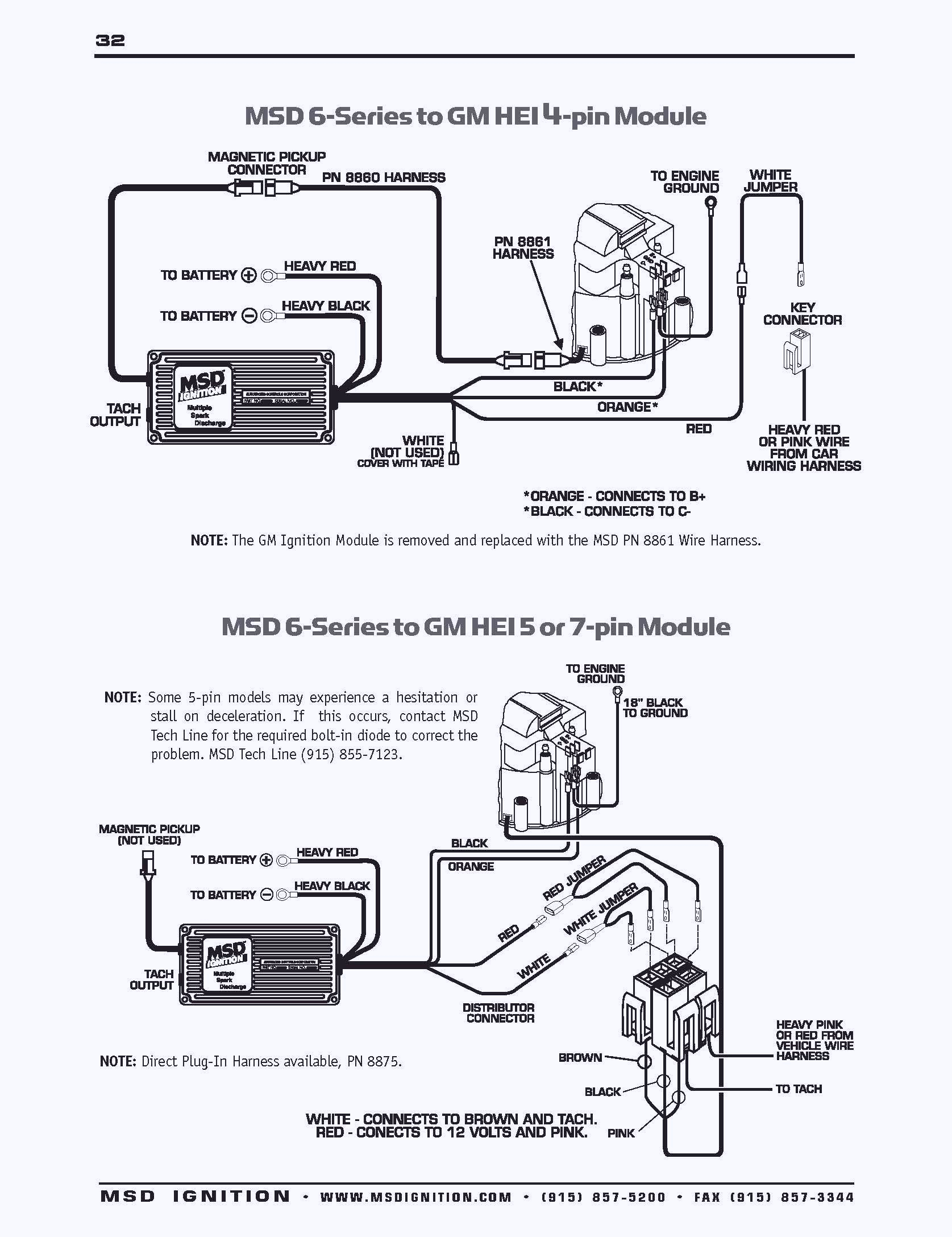 msd 6al ignition system for small block chevy wiring diagram