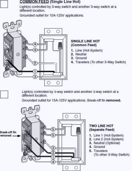 wiring diagram for light switch and outlet bo