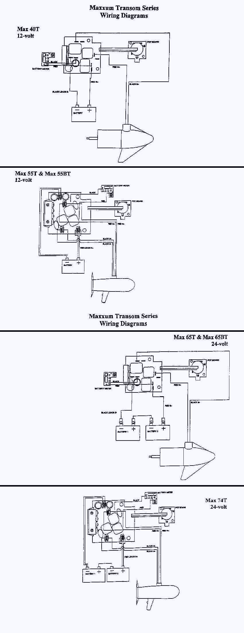 12 24 volt trolling motor wiring diagram collection