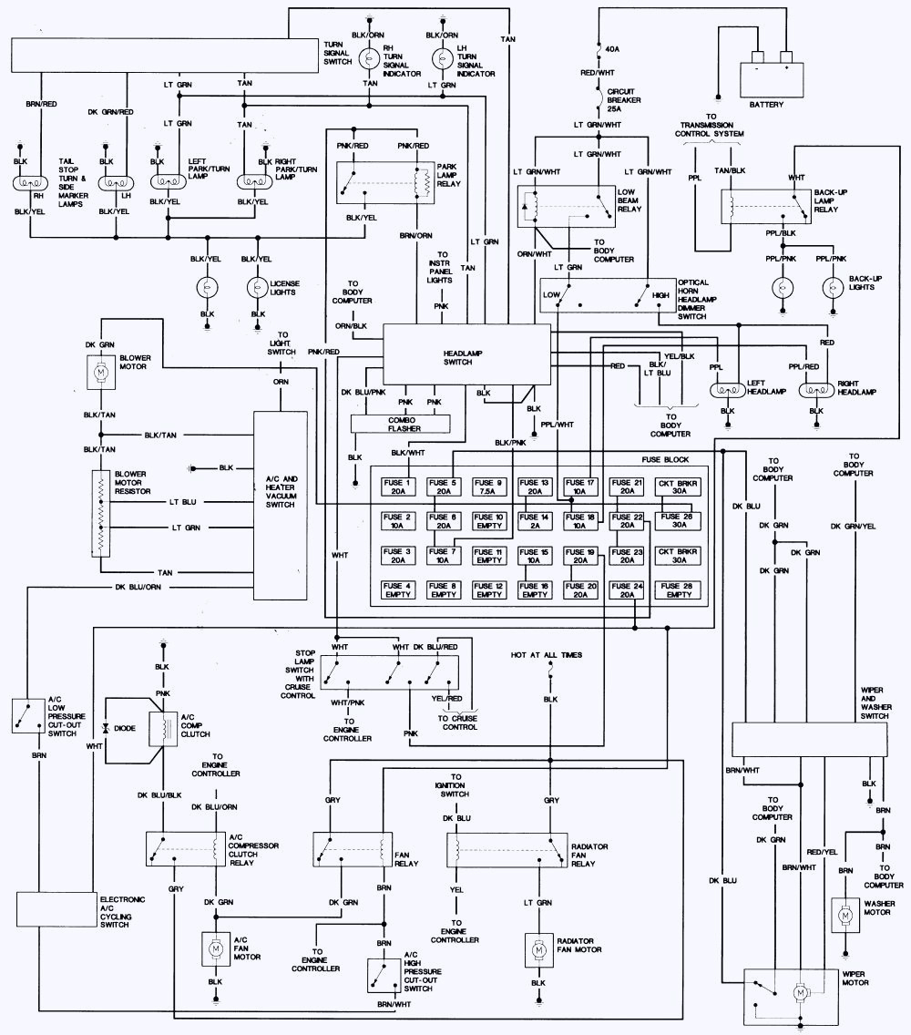 wiring schematic for 2006 chrysler town