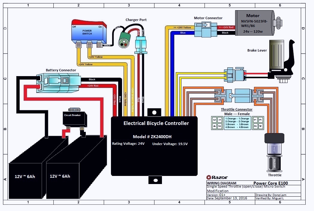razor e100 scooter wiring diagram for your needs